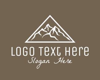 Mountain Range - Triangle Mountain Peak logo design