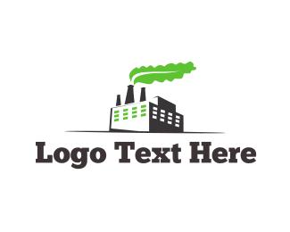 Warehouse - Green Factory logo design