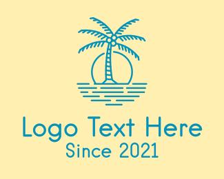 Resort - Blue Beach Resort logo design