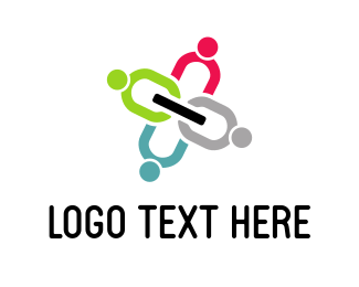 Community Foundations Human Chain logo design