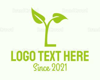 Letter L - Green Letter L logo design