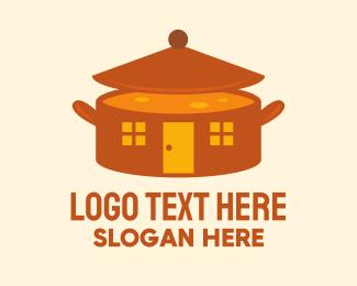 Hut - Home Cooking Soup Pot logo design