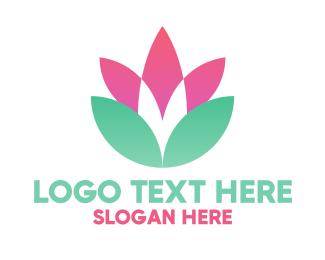 Symmetrical - Symmetrical Flower Badge logo design