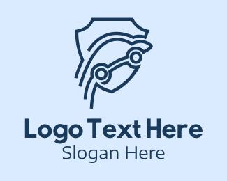 Headlight - Blue Car Insurance  logo design