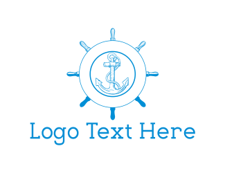 Wheel - Blue Anchor logo design