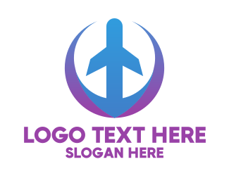 Airlines - Airplane Cargo Service  logo design