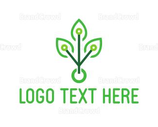 Eco Energy - Tech Tree logo design