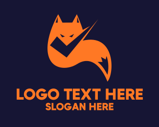Coyote - Fox Check logo design