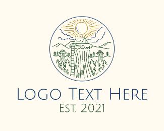 Ladder - Sky Forest Camp logo design