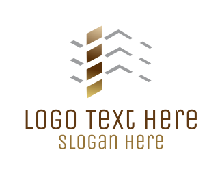 Residential Construction - Roof Construction logo design