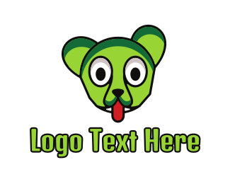 Tongue - Green Cat Outline logo design