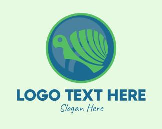 Animal Sanctuary - Cute Turtle Circle  logo design