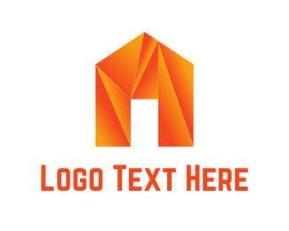 Mortgage Real Estate Origami House logo design