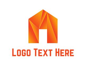 Crystal - Origami House logo design
