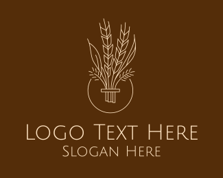 Oat - Minimalist Wheat Grain  logo design