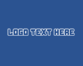 Glow - Robotic Glow Text logo design