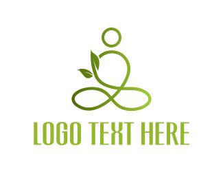Pilates - Green Yoga logo design