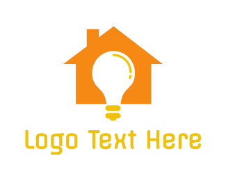 Orange House - Orange House Bulb logo design