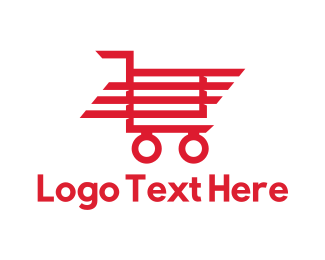 Shopify - Red Trolley logo design