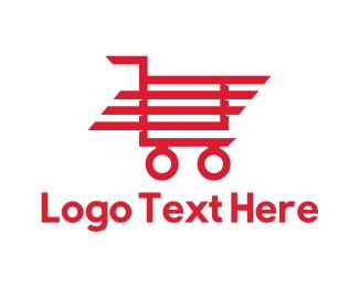 Shopify - Red Trolley logo design