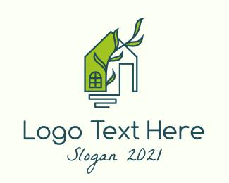 Real Estate - Eco Friendly House logo design
