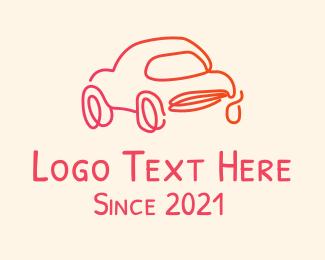Drive-in - Monoline Car Dealer logo design
