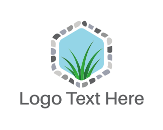 Lawn - Grass Window logo design