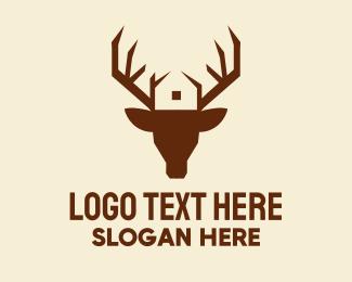 Antlers - Reindeer Antler House logo design