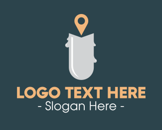 Geolocation - Candle Location logo design