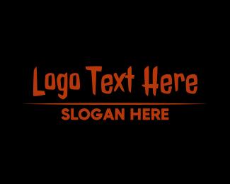 Mysterious - Sharp Halloween Wordmark logo design