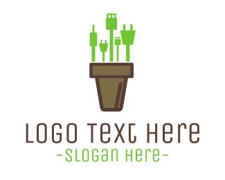 Cable - Gadget Vase logo design