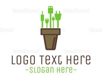 Hardware - Gadget Vase logo design