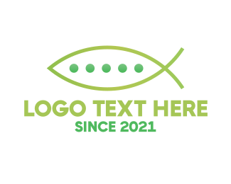 Fish Farm - Fish Peas logo design