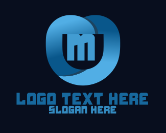 Shield - Blue Modern Application Lettermark logo design