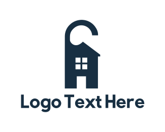 Accommodation - House Hangtag logo design