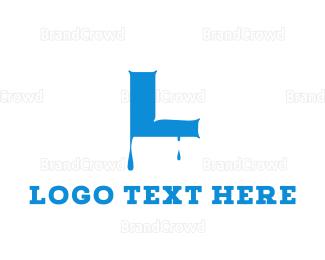 Drinking Water - Blue & Dripping  logo design