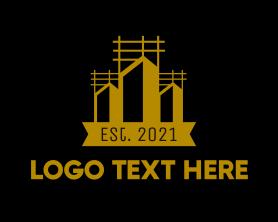 Real Estate - Urban Construction Tower logo design