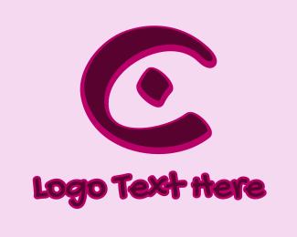 Marker - Marker Graffiti Letter C logo design