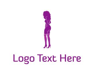Hairdresser - Purple Woman logo design