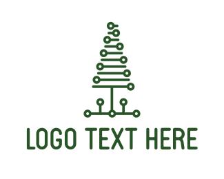 San Francisco - Tech Pine Tree logo design