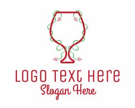 Holiday - Holiday Wine Glass logo design