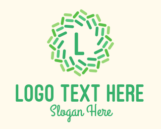 Agribusiness - Green Abstract Flower Letter L logo design