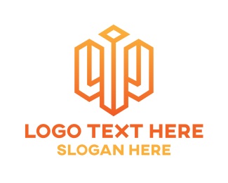 Orange Square - Orange Cube W logo design