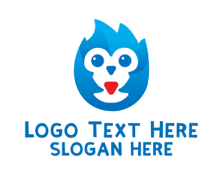 Educational - Blue Baby Owl logo design