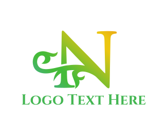 Royal - Leaf Letter N logo design