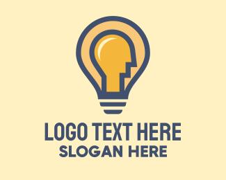 Ideation - Light Bulb Man  logo design
