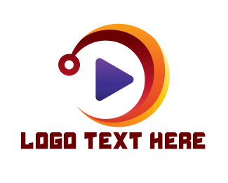 Tv Series - Colorful Media Player logo design