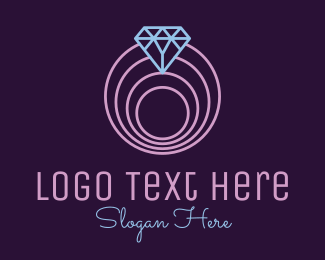 Wedding - Minimalistic Spiral Diamond logo design