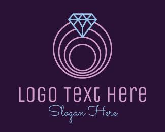 Minimalist - Minimalistic Spiral Diamond logo design