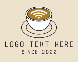 Saucer - Wifi Coffee Latte  logo design